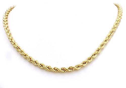 14 kt / 585 Kordelkette Gelbgold 2.50 mm - Länge wählbar (60) -
