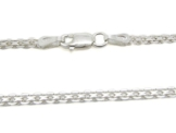 Amberta 925 Sterlingsilber Damen-Halskette - Bismarck Kette - 2.2 mm Breite - Verschiedene Längen: 40 45 50 55 60 cm (45cm) -