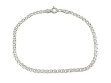 Amberta 925 Sterlingsilber Damen-Halskette - Herzkette - 2.3 mm Breite - Verschiedene Längen: 40 45 50 55 60 cm (55cm) -