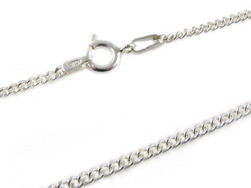 Amberta 925 Sterlingsilber Damen-Halskette – Panzerkette – 2 mm Breite – Länge: 60 cm -