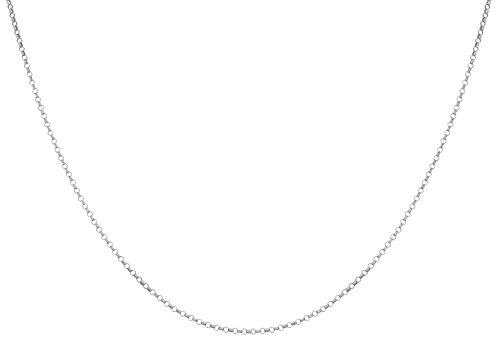 Carissima Gold Unisex-Kette ohne Anhänger 375 Weißgold 41 cm - 5.14.1453 -