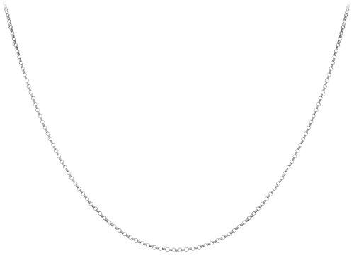 Carissima Gold Unisex-Kette ohne Anhänger 375 Weißgold 46 cm - 5.14.1454 -
