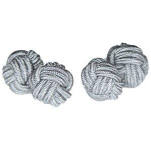 Cuffs & Co Manschettenknöpfe-Geschenkset Design Seidenknoten 6 Graunuancen -