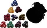 GENTLEMAN: 10 hochwertige multicolor Seidenknoten Manschettenknöpfe -
