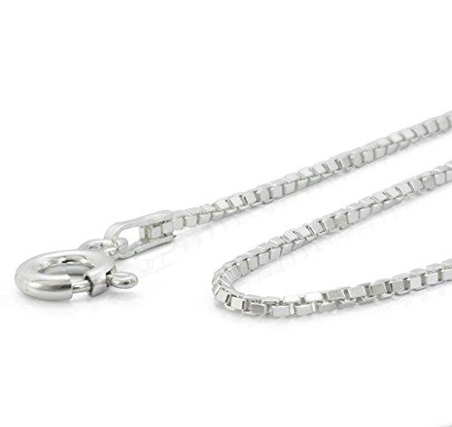 Halskette Damen Herren 925 Silber 1mm diamantierte feine Venezianerkette 42 45 50 55 60 70 80 90 100cm lange ketten #1212 (60) -