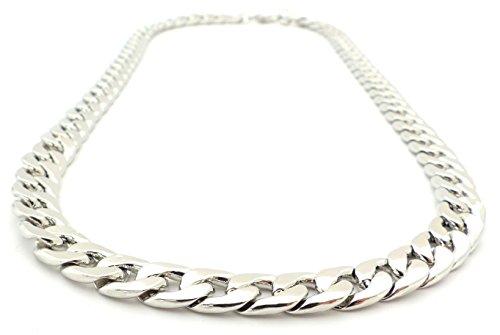Hip Hop Gangster Silberkette für Herren und Damen SilverOne 9mm breite -