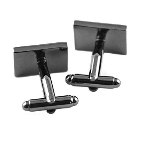 Hochwertige Manschettenknöpfe aus Messing antrazit schwarz - Ctrl Esc Computer-Tastatur - in edler Geschenkbox - deutscher Händler und Blitzversand von Mind-Care-Essentials -