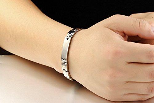 Jstyle Armband Edelstahl Partner Freundschaft Armketten allergiefrei Armbänder Silberweiß für Armreif 20,5cm verliebte Paare Freundschaft Damen Männer -