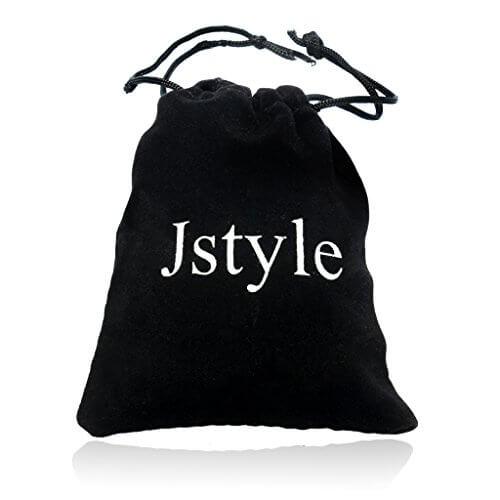 Jstyle Ohrstecker 4er Edelstahl Creolen 14mm Clips Ohrringe Herren Damen Herrenstecker Nickelfrei Blau Schwarz -
