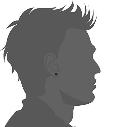 Jstyle Schmuck Edelstahl mini Ohrstecker allergiefrei schwarze Ohrringe für Männer und Frauen 6 Paare Durchmesser 3-8mm -
