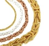 Königskette Gold Doublé 10 mm 80 cm Halskette Goldkette Herren-Kette Damen Geschenk Schmuck ab Fabrik Italien tendenze BZGY10-80v -