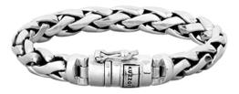 KUZZOI Herren Armband aus massivem 925er Sterling Silber, Breite 10 mm, Länge 21 cm, 335105-021 -