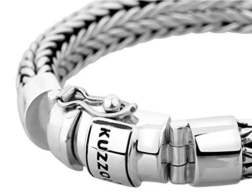 KUZZOI Herren Armband aus massivem 925er Sterling Silber, Breite 11 mm, Länge 19 cm, 335103-019 -