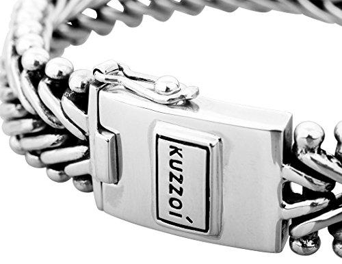 KUZZOI Herren Armband aus massivem 925er Sterling Silber, Breite 19 mm, Länge 21 cm, 335106-021 -
