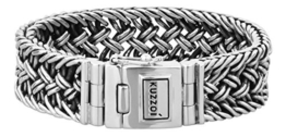 KUZZOI Herren Armband aus massivem 925er Sterling Silber, Breite 20 mm, Länge 19 cm, 335104-019 -
