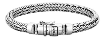 KUZZOI Herren Armband aus massivem 925er Sterling Silber, Breite 7 mm, Länge 19 cm, 335102-019 -