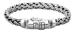 KUZZOI Herren Armband aus massivem 925er Sterling Silber, Breite 8,5 mm, Länge 21 cm, 335111-021 -