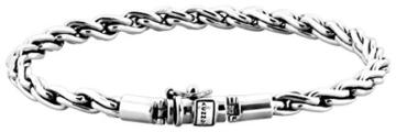 KUZZOI Herren Armband aus massivem 925er Sterling Silber, Länge 23 cm, 335112-023 -