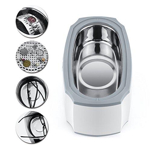 LifeBasis Ultraschallreinigungsgerät 450ml Ultraschallreiniger 45KHz Ultraschallgerät Ultraschall Gerät für Brillen Schmuck Uhren -