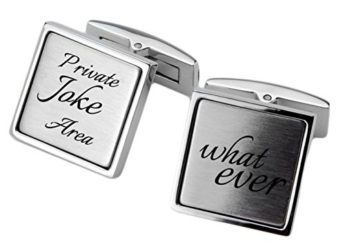 Manschettenknöpfe Edelstahl mit Ihrer persönlichen Gravur für Herren Manschettenknopf Hochzeit cuff link button -
