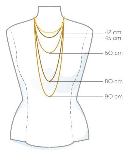 Miore Halskette 18Ct/750 Weissgold mit Brillant ca.0,08Ct 42cm M0600W -