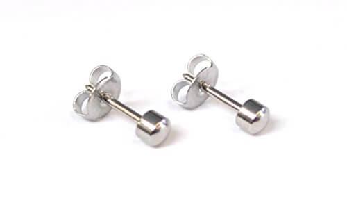 Offiziellen Caflon Produkt – Silber Ohrringe Edelstahl Regulär Studs (Stainless Steel, Regular Ball) -
