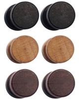 Ohrringe aus Edelstahl im Holzdesign -
