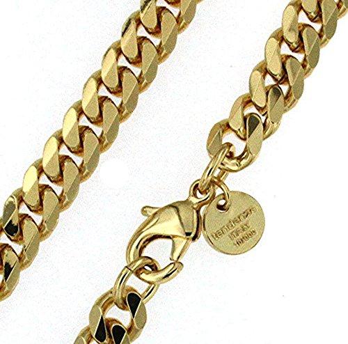 Panzerarmband Gold Doublé 7 mm 19 cm Armband Herrenarmband Goldarmband Schmuck Geschenk ab Fabrik Italien tendenze GGYs7-19v -