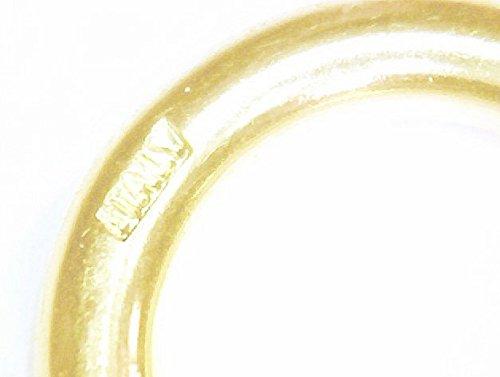 Panzerarmband vergoldet 5,3mm breit, 23 cm lang, Armband Herren Männer Damen Geschenk Schmuck ab Fabrik Italien tendenze GG5,3-23 -