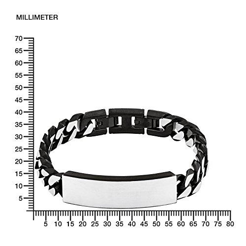 s. Oliver Herren-Armband Identarmband gravurfähig Edelstahl 21.5 cm - 540698 -