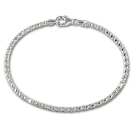 SilberDream Armband aus 925er Sterling Silber - Damenarmband Himbeerkette - 18,5cm - SDA2178J -