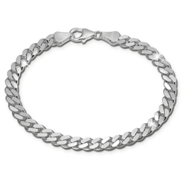 SilberDream Armband Panzer flach 925 Sterling Silber-Armband Unisex 21cm SDA2411J -