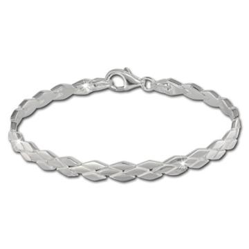 SilberDream Armband Raute matt/glänzend 925 Sterling Silber 19cm Damen Silberarmband SDA430 -