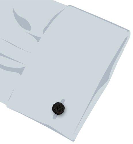 Teroon Unisex-Manschettenknöpfe Seidenknoten schwarz 610245 -