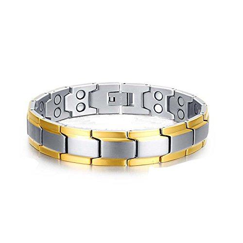 """YSM 316L Edelstahl Armband 230mm """"x"""" Form, modische Herren Armband Charme Armreif Armband -"""