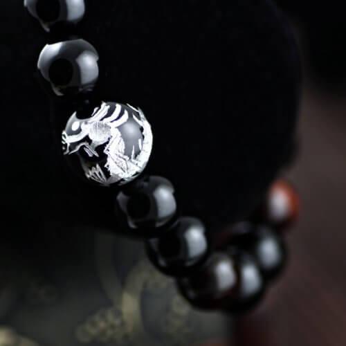 Merdia Herren Original Tiger Augen Stein Armband (12mm Silbrig) -