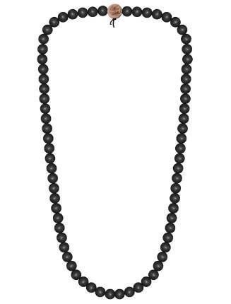 WOOD FELLAS Unisex Deluxe Holz-Perlenkette black 12mm -