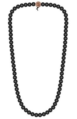 WOOD FELLAS Unisex Deluxe Holz-Perlenkette black 6mm -