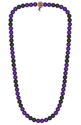 WOOD FELLAS Unisex Deluxe Holz-Perlenkette purple/black 12mm -
