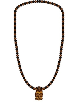 WOOD FELLAS Unisex Holz-Halskette African Mask One -