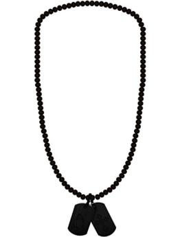 WOOD FELLAS Unisex Holz-Halskette Praying DT black One -