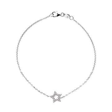& YOU Armband Kette–Weißgold 18kt–Vendôme–Diamanten 0,12ct–18cm–am- Brac Star 012B