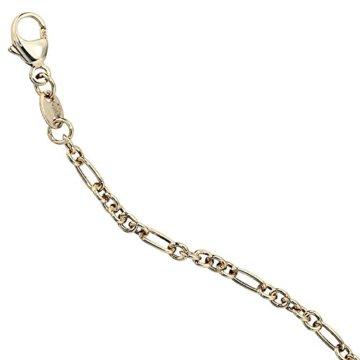 14 k ( 585 ) Gold Armband im Stil einer Ankerkette – B 2,30 mm – T 2,30 mm – L 19 cm