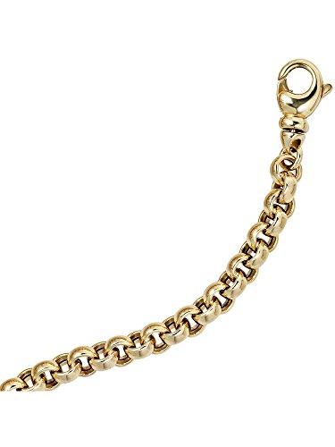 14 k ( 585 ) Gold Armband im Stil einer Erbskette – L 19 cm – Ø 6,10 mm