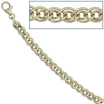 14 k ( 585 ) Gold Armband im Stil einer Panzerkette – L 21 cm