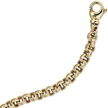14 k ( 585 ) Gold Armband im Stil einer Erbskette – L 19 cm – Ø 6,10 mm -
