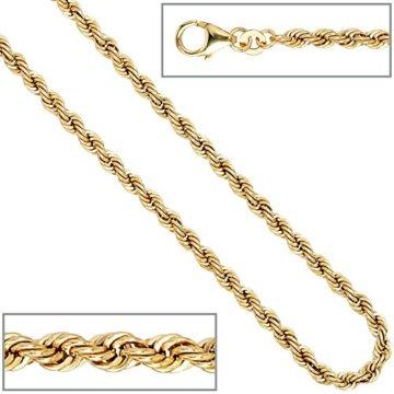 14 k ( 585 ) Gold Armband im Stil einer Kordelkette – L 18.5 cm – Ø 3,20 mm -