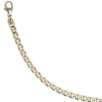 14 k ( 585 ) Gold Armband im Stil einer Panzerkette – L 18.7 cm -