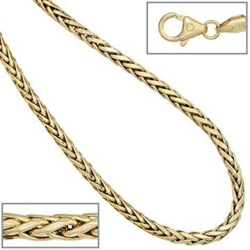 14 k ( 585 ) Gold Armband im Stil einer Zopfkette – L 19 cm – Ø 2,60 mm -