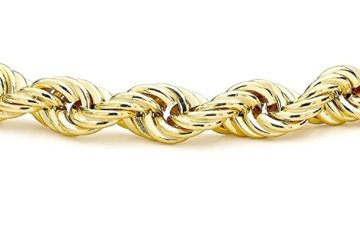 18 Karat / 750 Gelbgold Kordel Rope Armband 8 mm. Breit -